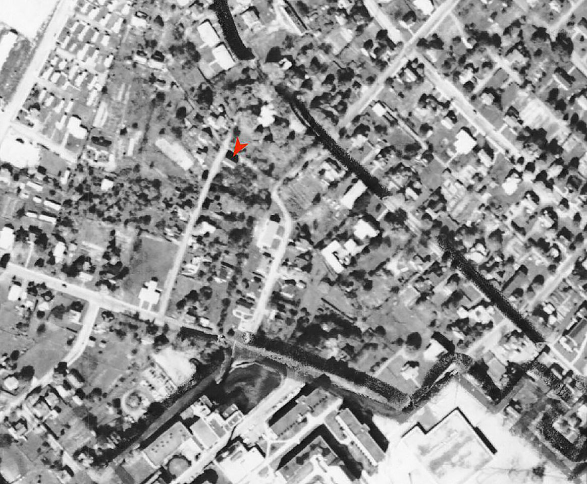 1962 Aerial Area of New Town