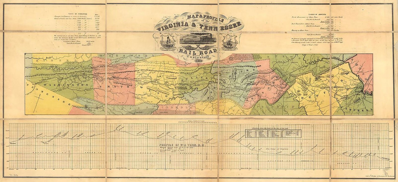 Map of VA/TN Railroad