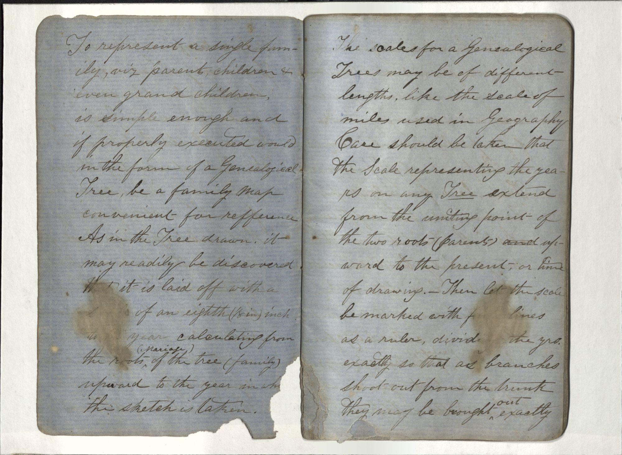 Blue Journal, John Henning Woods, 1864 (Ms2017-030)