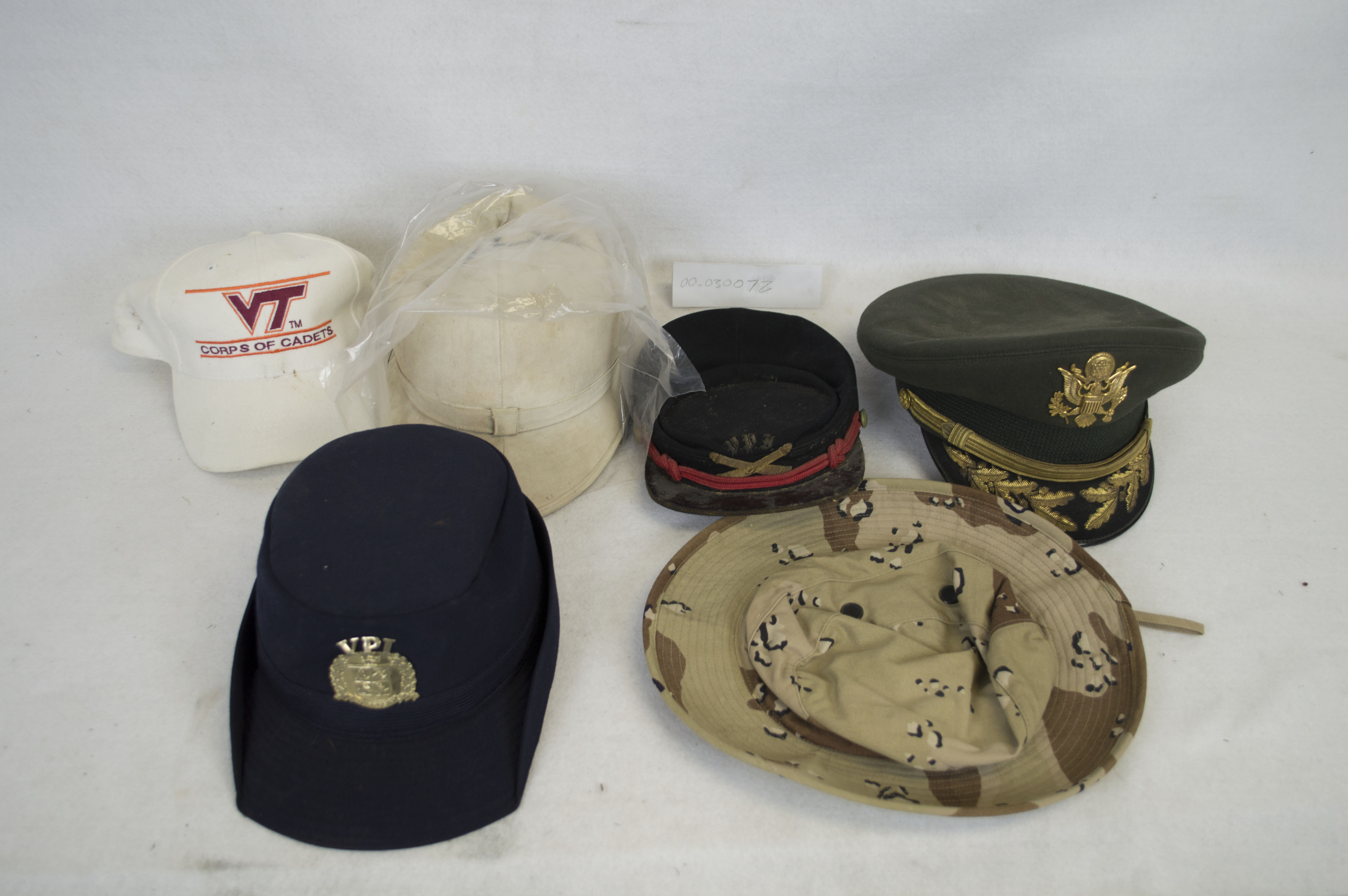 Army Cap, KepiStyle artillery cap, female blue cap, old zulu style cadet hat (Virginia Tech Corps of Cadets Museum)