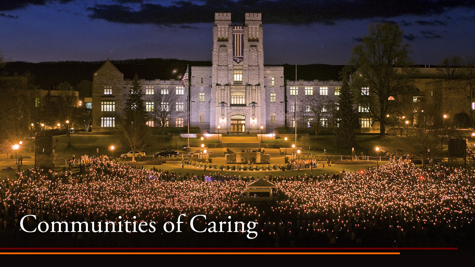 vigil outside Burruss Hall