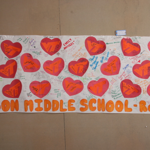 Banner from Woodrow Wilson Middle School