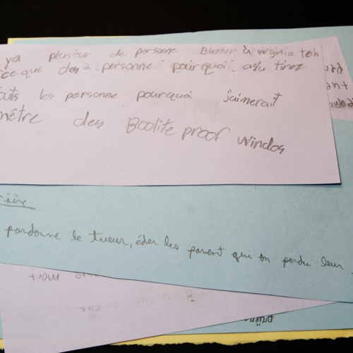 Letters from Ecole St-Viateur