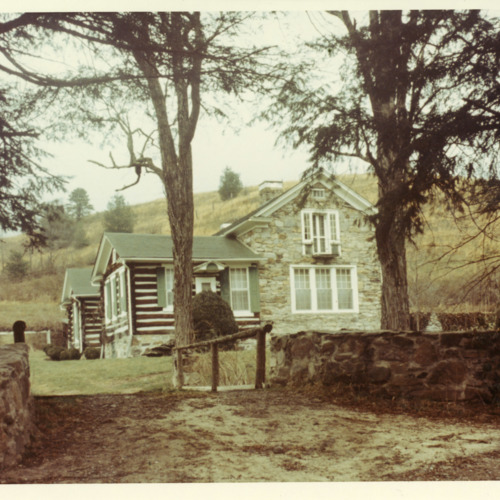Photograph of Ripshin, Sherwood Anderson's summer (and later year-round) home outside of Troutdale, Virginia, 1966  (Ms1973-002)