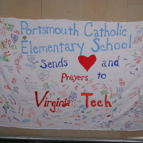 Banner from Portsmouth Catholic Elementary School