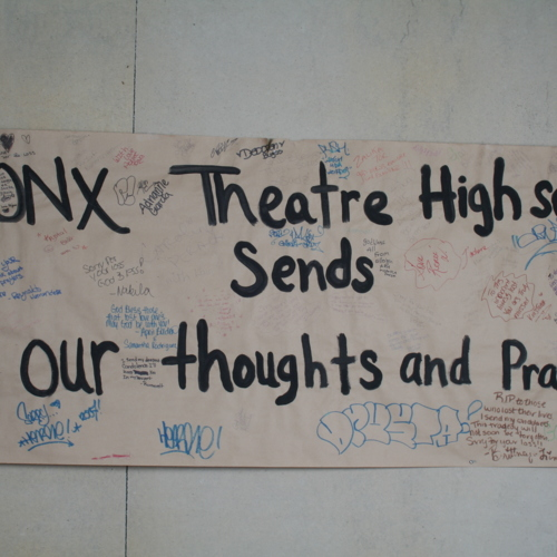 Banner from Bronx Theatre High School