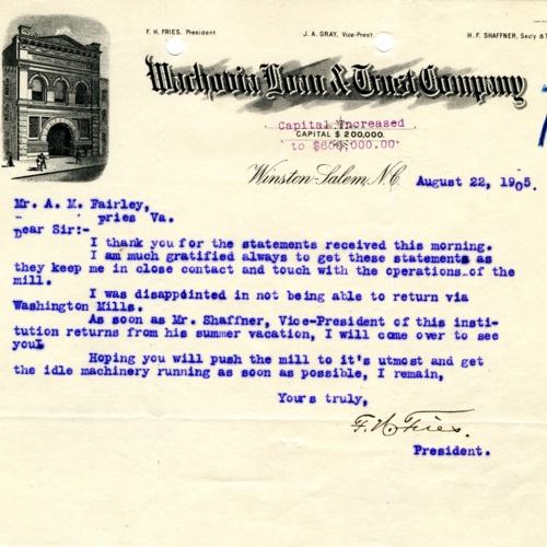 Message from the Company President, 1905 (Ms1989-039)