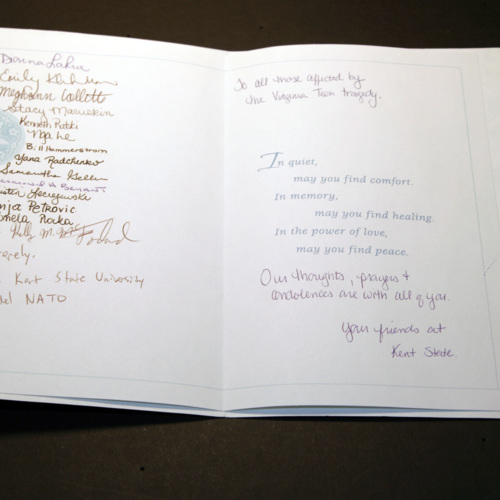 Card from the Model NATO at Kent State University