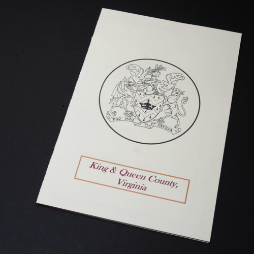Card from King and Queen County Government