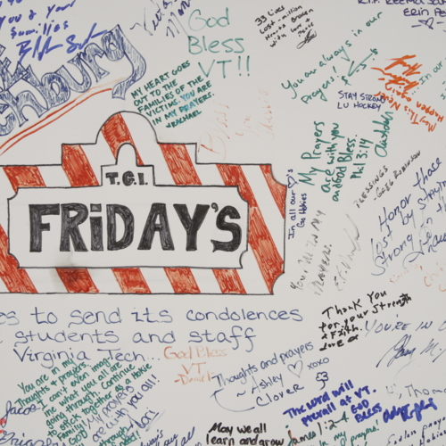 Poster from the Lynchburg T.G.I. Friday's