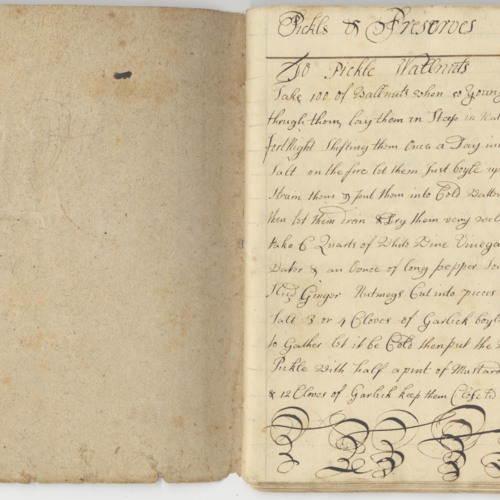 'Book for Receipts' Recipe Book, 1731 (Ms2008-024)