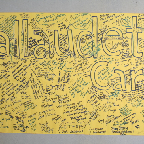 Banner from Gallaudet University