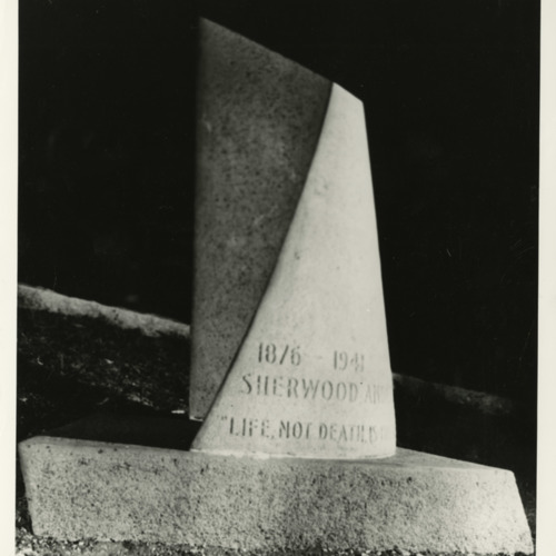 Photograph of Sherwood Anderson's grave, Marion, Virginia (Ms1973-002)