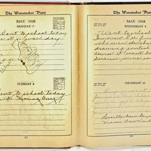 Diary, Elsa Marie Rupp Hofheinz, 1928 (Ms2013-094)
