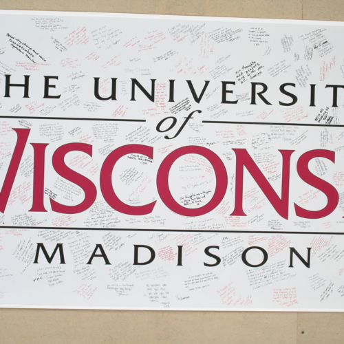 Banner from University of Wisconsin