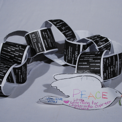 Paper Chain from Learning for Leadership Charter School