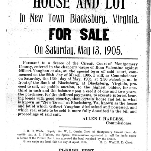 Bill of Sale, Vaughn Property