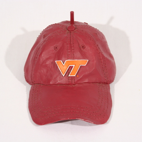 Birdhouse from a Virginia Tech Baseball Cap (Donor Unknown)