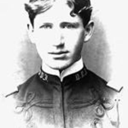 Burruss as a cadet