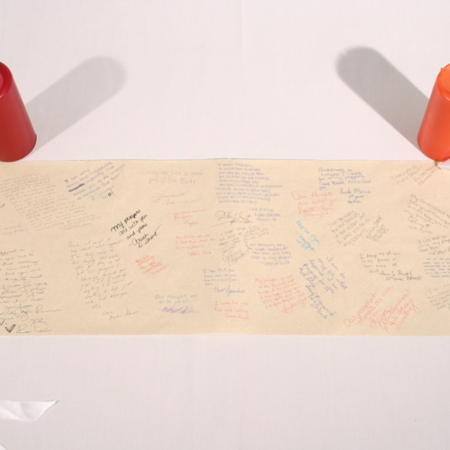 Scroll and Candles from Baton Rouge Magnet High School