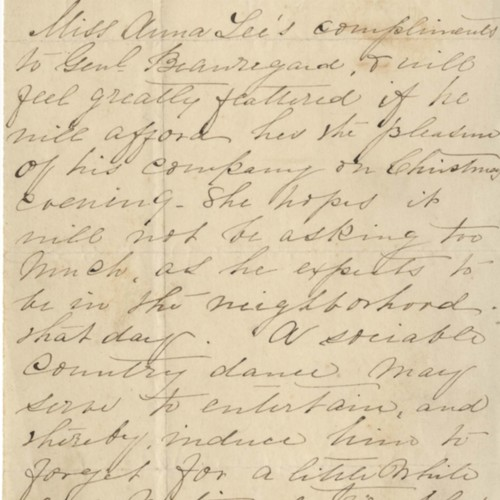 Anna Lee Letter, 1861 (Ms2008-028)