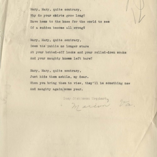 """Poem, """"Varium et Mutbaile Semper Femina"""""""