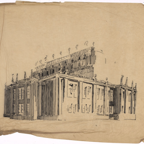 Sketch, unidentified building (Ms2003-015)