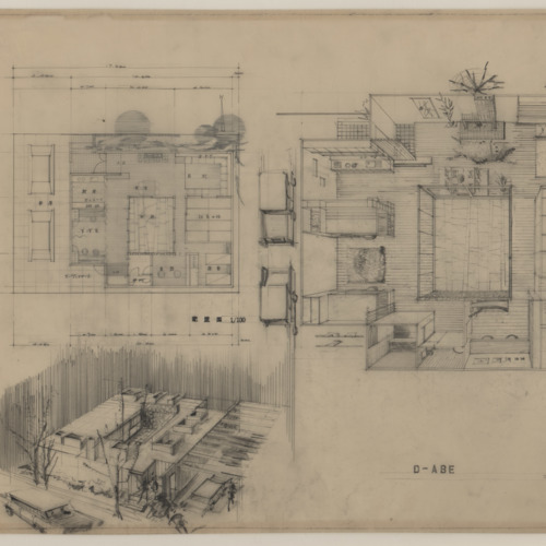 Architectural Drawing, Kimiko Suzuki, Abe House #430328, nd (Ms2013-089)