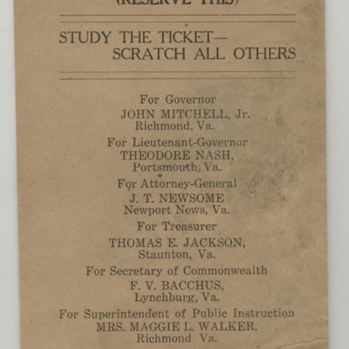 Virginia Republican Party Flyer