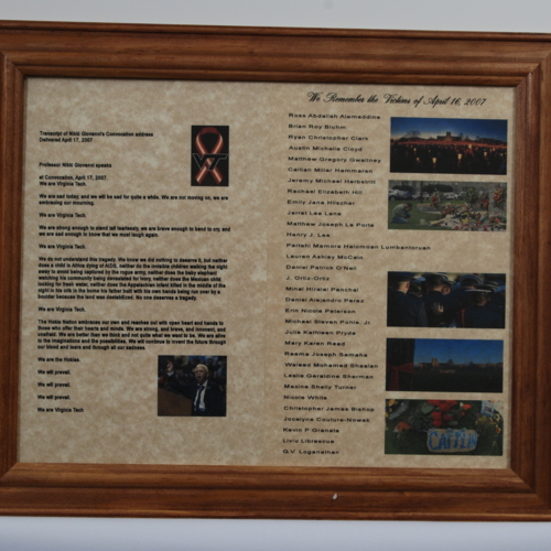 Framed Collage from Hawthorne Firefighters Aide, Inc.