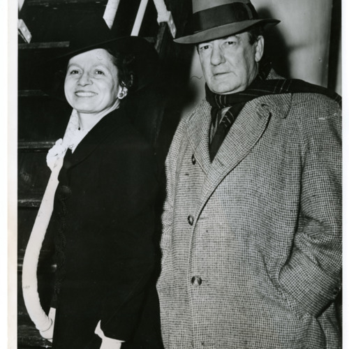 Photograph of Sherwood and Eleanor Anderson , shortly after boarding the cruise liner <i>Santa Lucia</i>, 1941  (Ms1973-002)