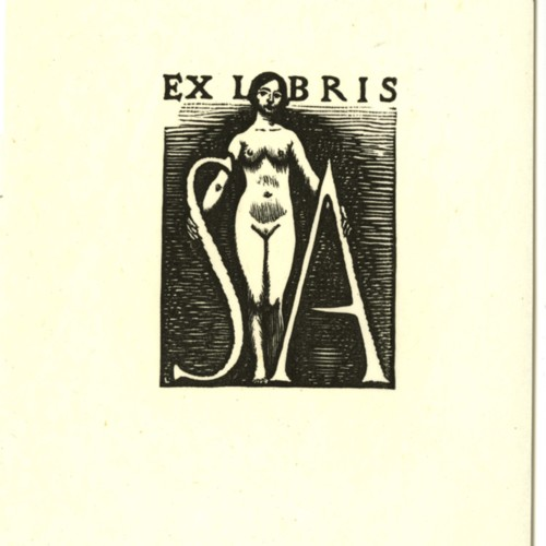 Bookplate designed by J. J. Lankes for Sherwood Anderson (Ms2015-020)