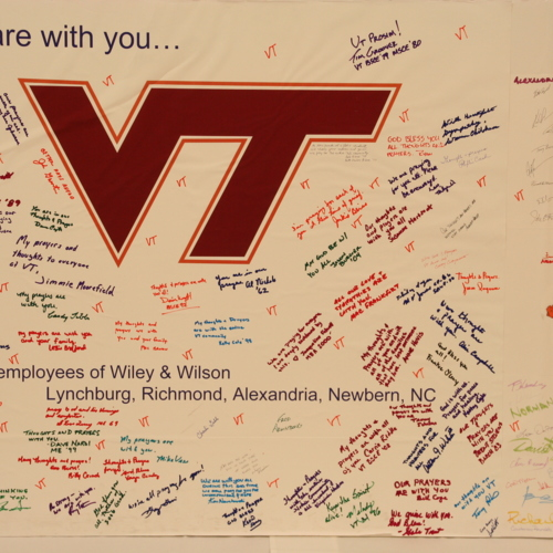Poster from the employees of Wiley and Wilson