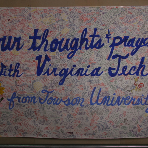 Banner from Towson University