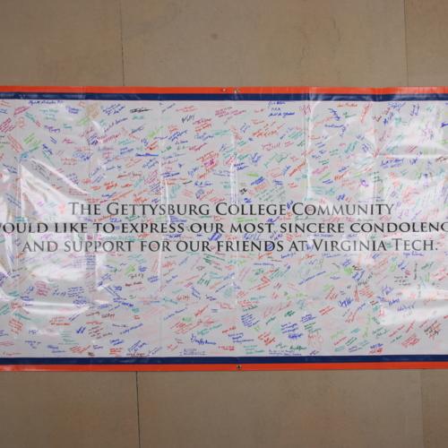 Banner from Gettysburg College