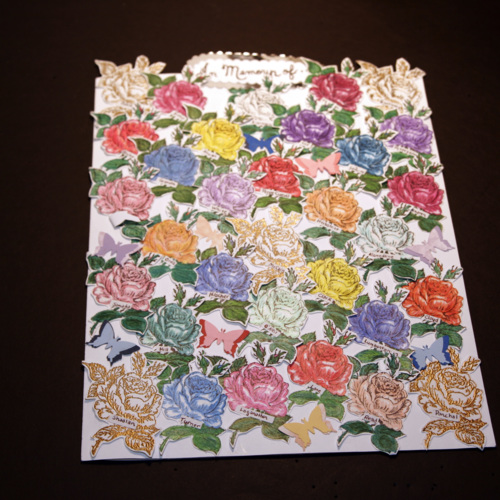 Card with roses from Amish family