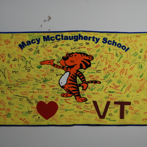 Flag from Macy McClaugherty Elementary School