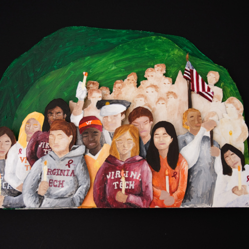 Art work from Paula Lee sent for first anniversary of 4/16