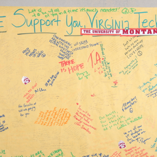 Banner from University of Montana