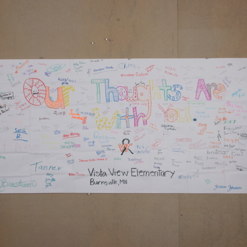 Banner from Vista View Elementary School