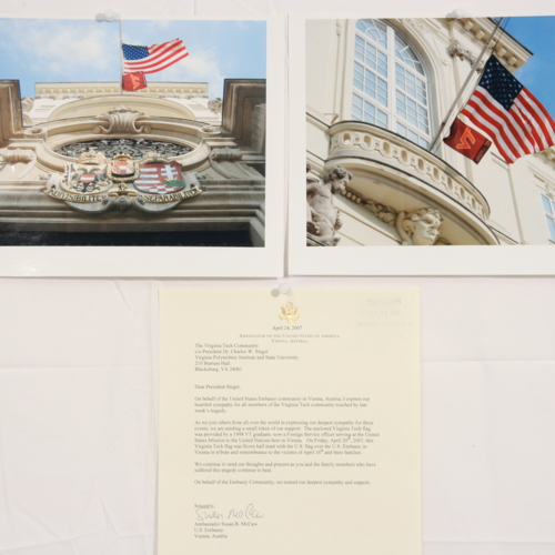 Photographs and letter from the United States Embassy in Austria
