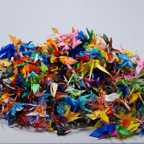 Paper Cranes from Washington Elementary School