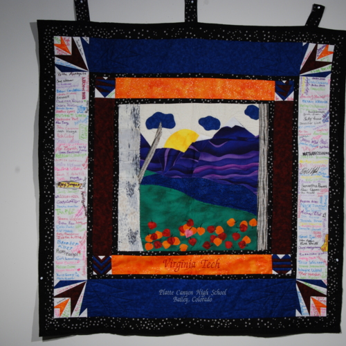 Quilt from Platte Canyon High School