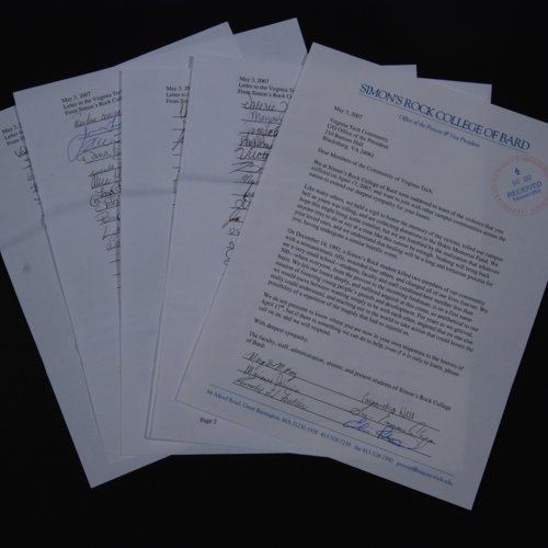 Letters from Simon's Rock College of Bard