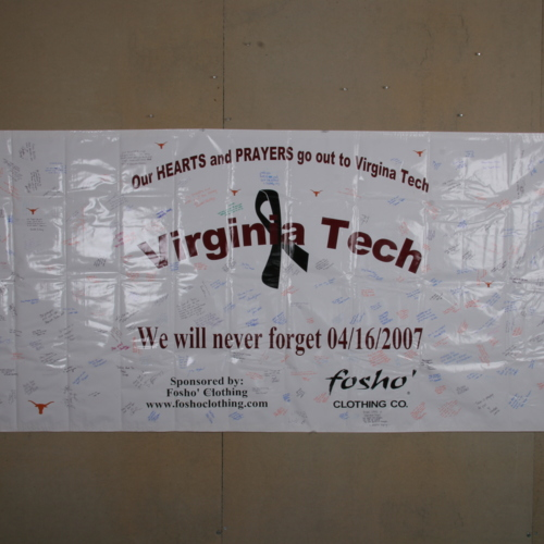 Banner from University of Texas