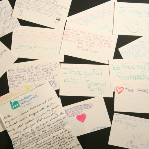 Letter and notes from Treutler County School System