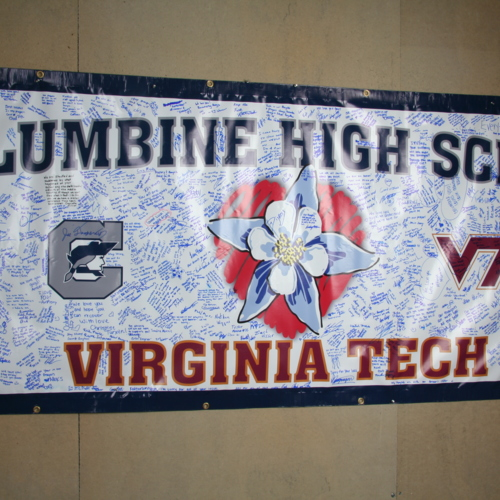 Banner from Columbine High School