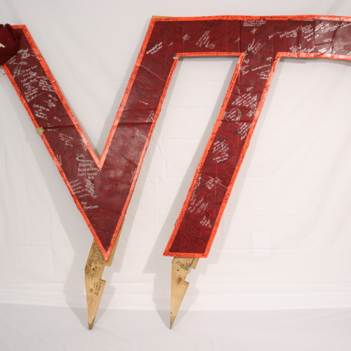 Plywood VT display from Virginia Tech students