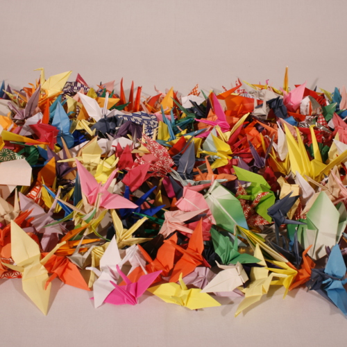 Paper Cranes from Suffolk County Community College