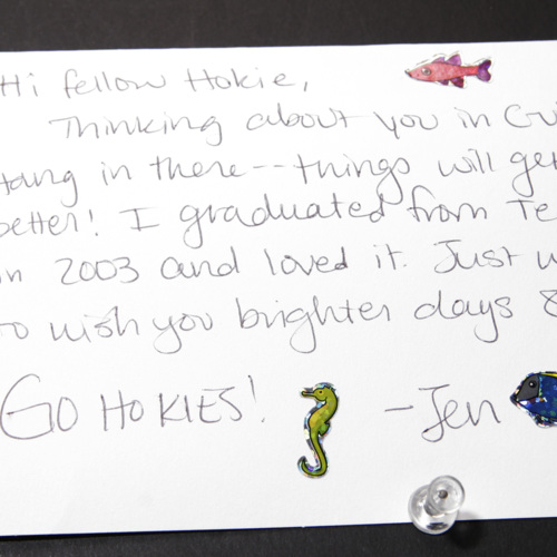 Card from University of Virginia Health System